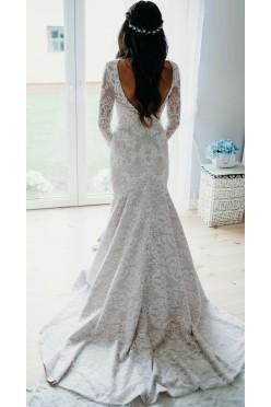 Zjawiskowa koronkowa suknia Rybka Berta