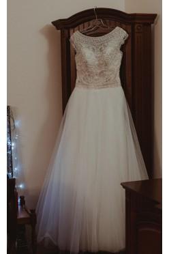 Suknia slubna na wysoką dziewczynę 178 cm + 8 cm obcas
