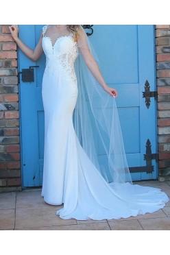 Suknia Ślubna Lilian West 2017 nr 6454 Ivory 34/36 + welon
