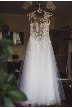 Piękna suknia ślubna Arsenie model 2017 r. 38 + welon GRATIS