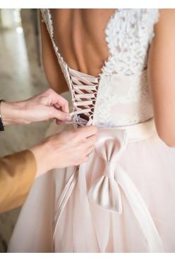 Suknia ślubna Victoria Soprano Joyce roz. 34 36 pudrowy róż