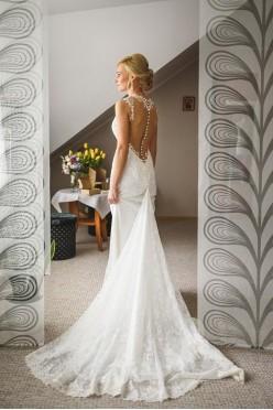 Piękna, koronkowa suknia ślubna rozm. 34/36.
