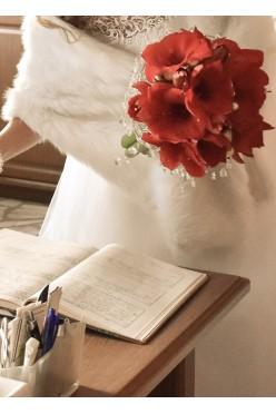 Etola ślubna - biała - rozmiar uniwersalny
