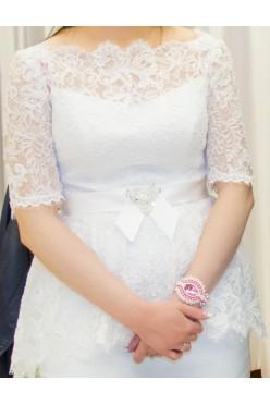 Krótka koronkowa sukienka ślubna
