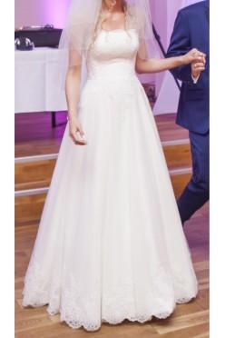 Piękna suknia ślubna Agnes Love Collection, rozmiar 36