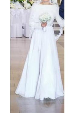 Piękna, rustykalna suknia ślubna