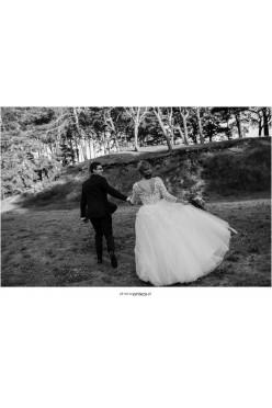Wyjątkowa Suknia ślubna z kwiatami 3D  r.38 MS moda