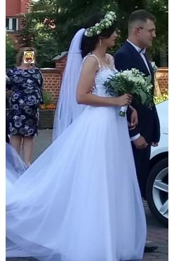 suknia ślubna z kolekcji Agnes 2018/2019 + 2 welony