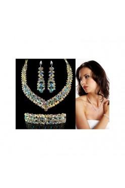 Komplet Biżuterii Ślubnej wykonanej z Kryształów Swarovski®