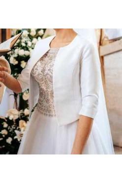 Suknia ślubna, ozdobny gorset
