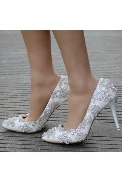 Nowe Buty ślubne, cekiny, obcas 9cm