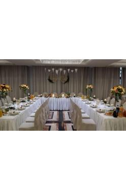 Ozdoby weselne złote koła żona mąż drewniane wesele