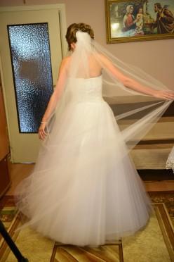 Welon ślubny - prosty tiulowy - 180 cm