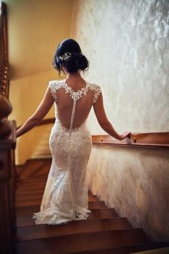 Wyjątkowa suknia ślubna! Przepiękna, ekskluzywna koronka!