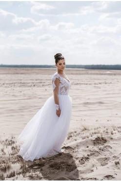 suknia 2w1 szyta wg. indywidualnego projektu