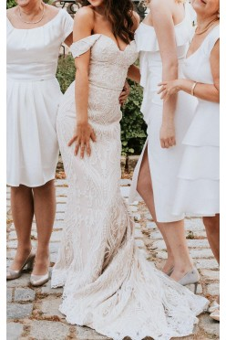 Suknia ślubna Laurelle, pudrowy róż, 167+5,5