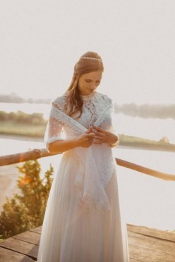 Narzutka na suknię ślubną