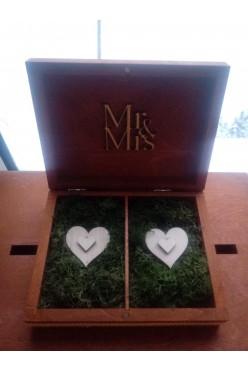 Szkatułka na obrączki i pudełko na koperty styl rustykalny