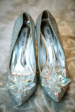 Buty ślubne wzorowane na Jimmy Choo r. 38