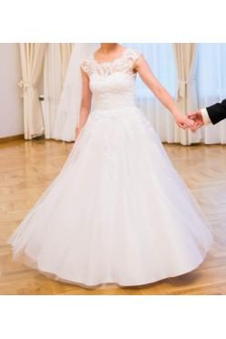 Suknia ślubna rozmiar 36/38 169 cm + 6 cm obcas