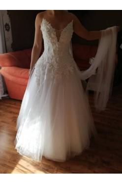Suknia ślubna dwuczęściowa biała  168cm+12 rozm. 38