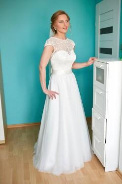 Suknia ślubna Adele w kolorze ivory 38 174cm+5cm korek