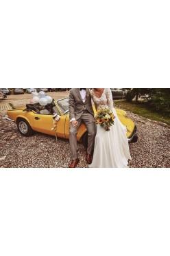 suknia ślubna r. 36- rustykalna, boho