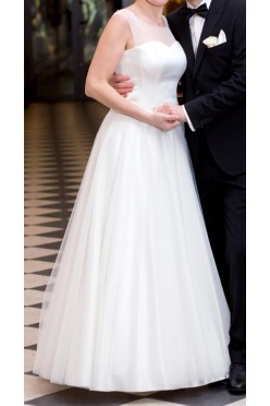 Suknia Duber Angel -roz.38, futerko i welon gratis!