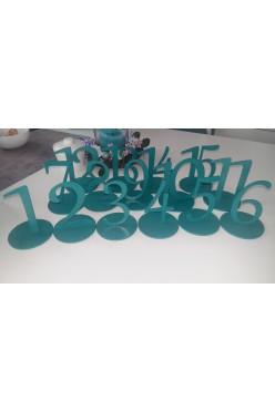 Numerki na stół 1-15