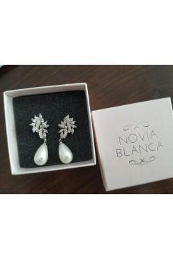 Kolczyki Rossa Pearl Novia Blanca