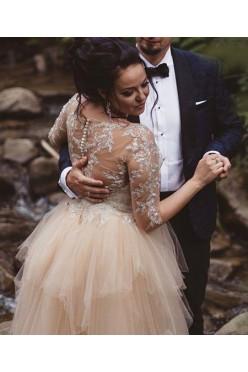 Suknia ślubna Enzoani BT17-06 rozm małe 40 Ivory\Blush