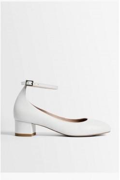 Buty ślubne, białe czółenka