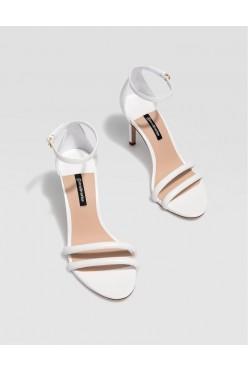 buty 40 sandały białe