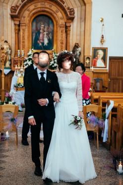 Suknia ślubna boho koronkowa, kolekcja Annais Brid