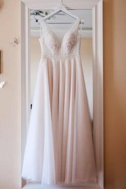 Suknia SABE Pia kolor szampański rozm 38 duży biust litera A