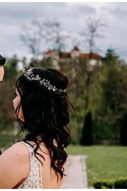 Ozdoba ślubna do włosów + kolczyki