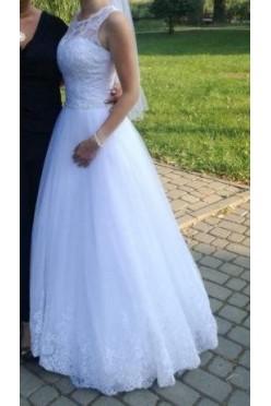 Zjawiskowa suknia ślubna r. 34+Gratis krótka na poprawiny