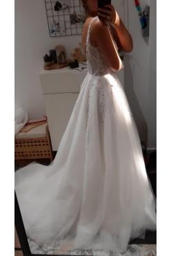 NOWA suknia ślubna 36 ivory bogato zdobiona