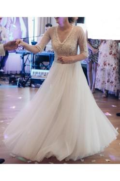 Suknia ślubna z rękawkiem rozmiar 36
