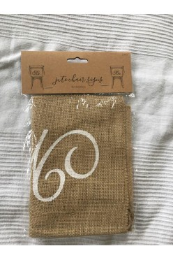 Dekoracje na krzesła napisy Mr & Mrs