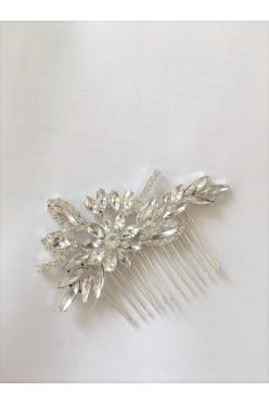 Grzebyk ślubny kryształki