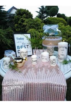 Świece spersonalizowane, świece ślubne, dekoracje