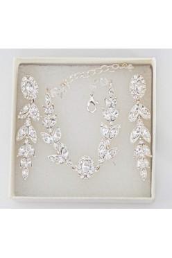 biżuteria ślubna kolczyki +bransoletka svarowski