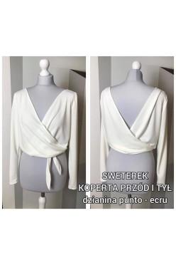 Sweterek ślubny ecrue r M