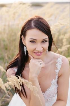 Kolczyki ślubne Novia Blanca
