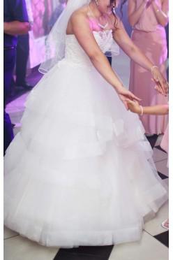 Suknia ślubna z regulacją gorsetu GRATIS welon i dodatki