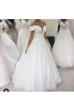 Przepiękna błyszcząca suknia ślubna cekiny