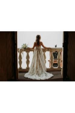Suknia ślubna Justin Alexander Model  8921+ramiączka r.34/36