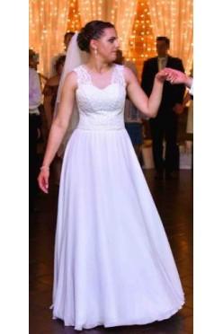Suknia ślubna 38-42 regulowana literka A