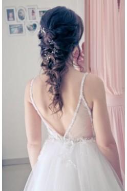Sukienka ślubna rozm. 36 śmietankowa biel swarovski